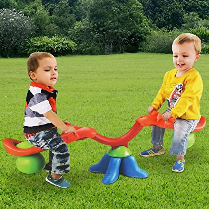 Youth Ride ON Toy Playground Children Gifts Living Room Boys Backyard Kids Teeter Totter Outdoor Seesaw: Outdoor Play Kid Party Lawn Ages 3-6 Rocking HIGH Chair Girls