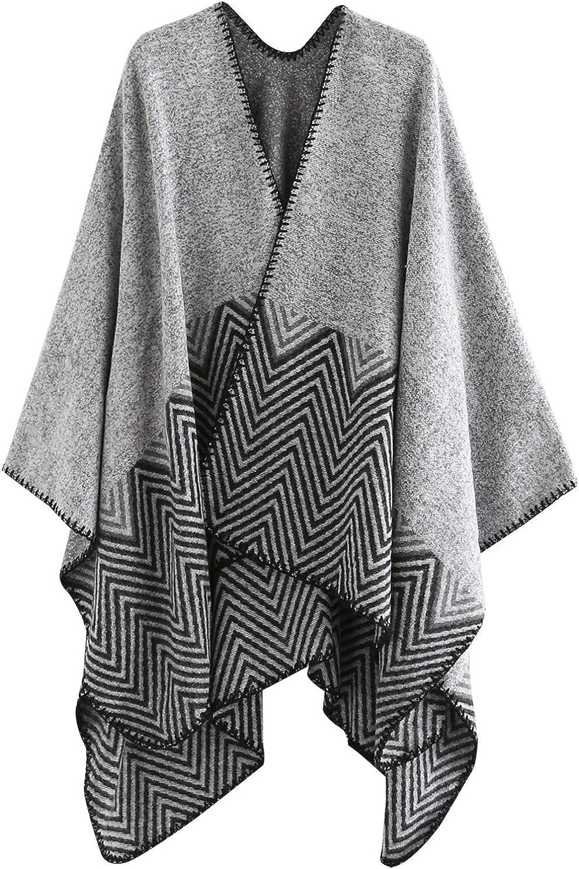 FEOYA Womens Oversized Shawl Stole Scarf Soft Warm Cashmere Pashmina Wrap Cape for Autumn Winter