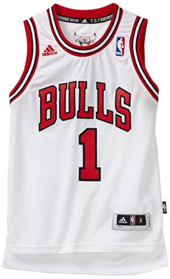 129bc9e0 Amazon.com: Derrick Rose Chicago Bulls #1 Youth Revolution 30 Swingman  Adidas NBA Basketball Jersey (Home White): Clothing