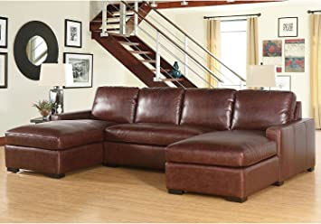 living room furniture amazon. Living Room Furniture Eiffel Full Grain Vintage Leather 3 Piece Sectional  Sofa Couch Home Amazon com