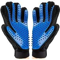 FMU Pet Grooming Gloves for Left & Right Hand Draw Dog Cat Horse Long Short Furr