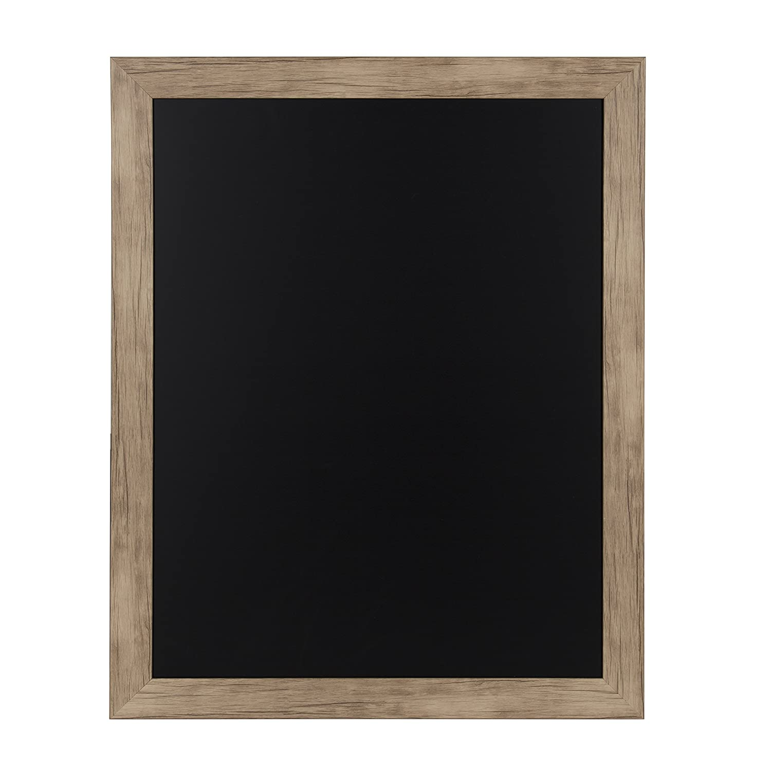 DesignOvation Beatrice Framed Magnetic Chalkboard, 13x23, Rustic Brown Uniek 209361