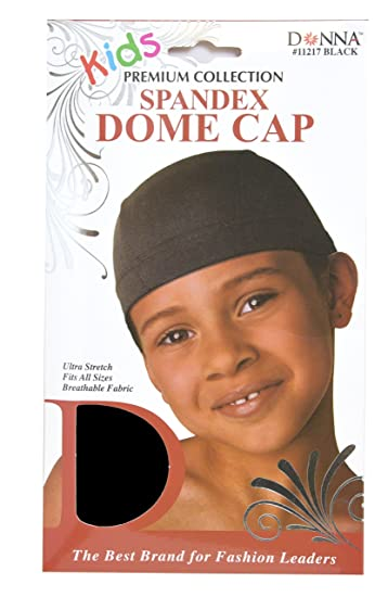 80386596ffe Amazon.com   Donna Kids Spandex Dome Cap - Black