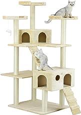 Go Pet Club Árbol para gato, 127 cm de ancho x 66 cm de largo x 183 cm de alto, beige