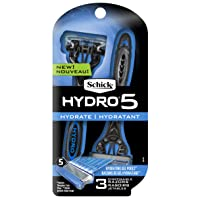 Deals on 3-Ct Schick Hydro 5 Disposable Razors With Flip Beard Trimmer