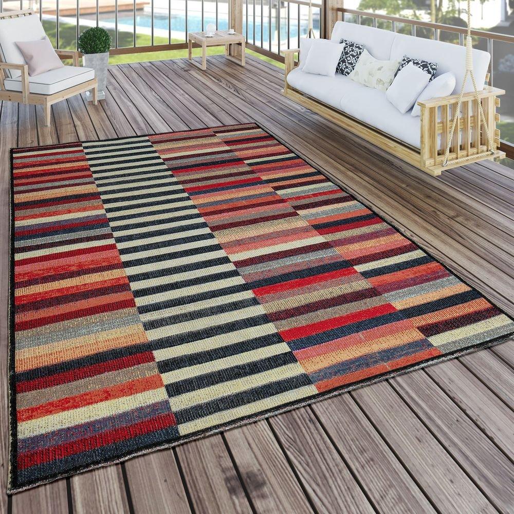 Paco Home In- & Outdoor Teppich Modern Boho Muster Terrassen Teppich Wetterfest Bunt, Grösse:200x280 cm