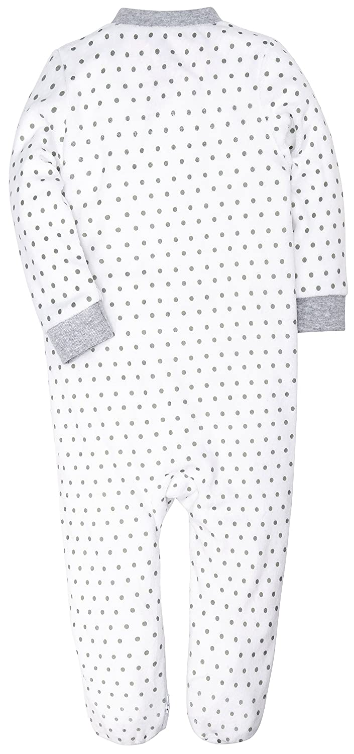 HONGLIN Baby Girl Footed Pajamas Long Sleeve Supersoft Velour Jumpsuit Sleeper 3-12 Months