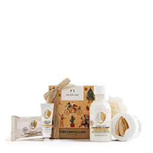 The Body Shop Soothing Almond Milk & Honey small gift set with body care treats for dry, sensitive skin