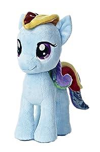 "Aurora World My Little Pony Rainbow Dash Pony Plush, 10"""