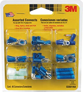 product image for 3M 03801NA Assorted Connectors for 16 to 14-Gauge Wires, Blue, 48-Pack