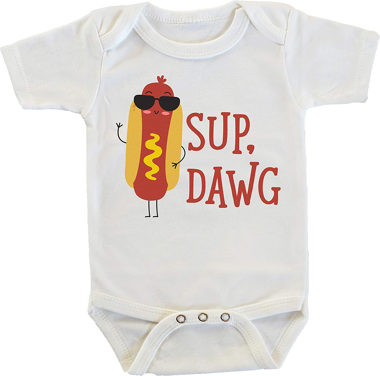 Sup Dawg Hot Dog Food Meme Onesie/Bodysuit
