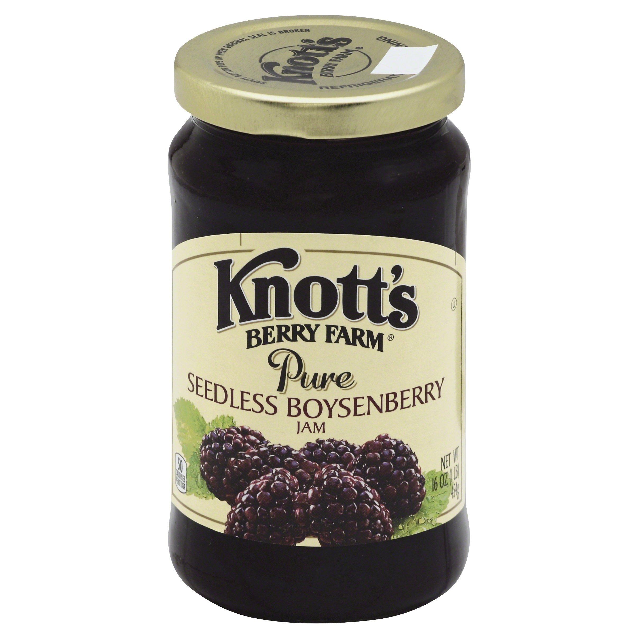 Knott's Berry Farm Pure Seedless Boysenberry Jam, 16 Ounce by Knott's (Image #1)
