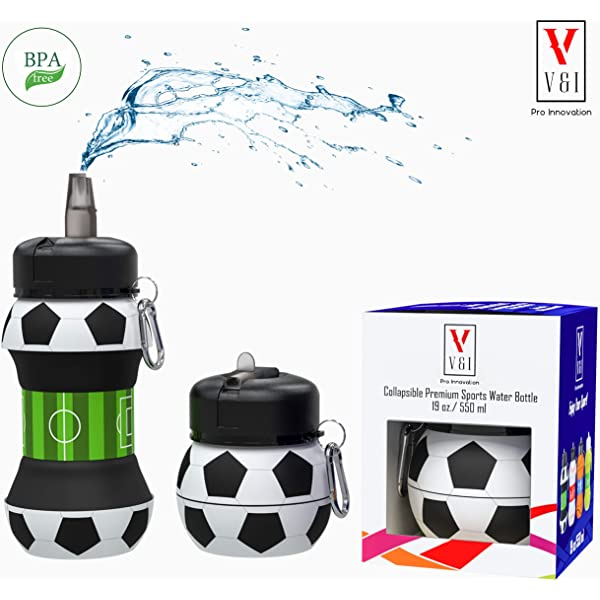Kids Sports Ball Water Bottle Basketball Baseball Soccer 19oz Jug Thermos BPA Free Resuable Leak /& Shock Proof Design Squeezable Cool Fun Compact Collapsible Travel Team Outdoors Best Wide Mouth Lid