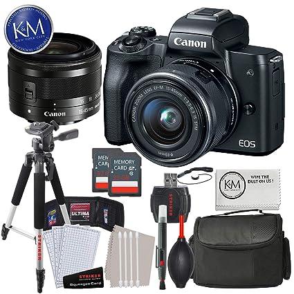 Amazon.com: Canon EOS M50 Cámara sin espejo con 0.591-1.772 ...