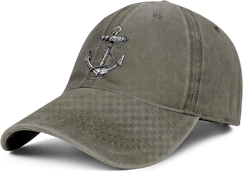 Snapback Cap for Women//Men Marine Anchor Rope Logo Cool Adjustable Pattern Outdoor Truckers