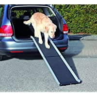 Trixie aluminio petwalk plegable rampa para perro, 155 x 38 cm), color negro