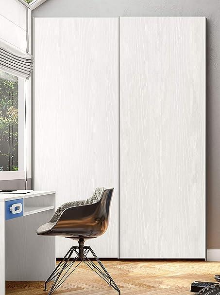 Armario para habitación de niños 2 Puertas correderas Modelo Zen Color Blanco Fresno cm L171: Amazon.es: Hogar