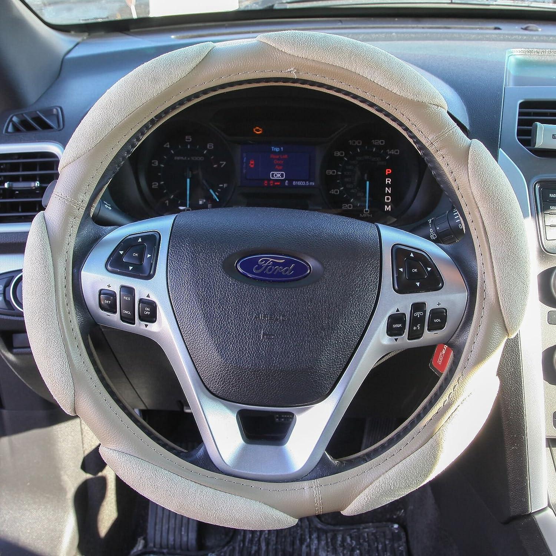 Black Trenton Memory Foam Soft Grip Universal 15 inch Steering Wheel Cover