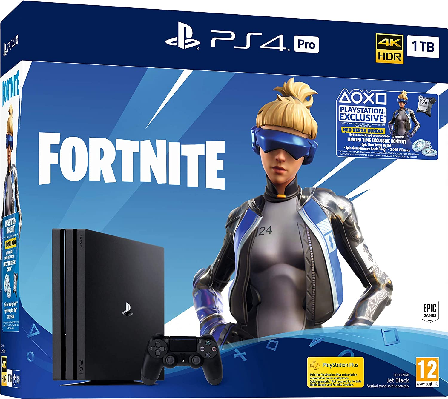 Fortnite Neo PS4 Pro 1TB Bundle - PlayStation 4 [Importación ...