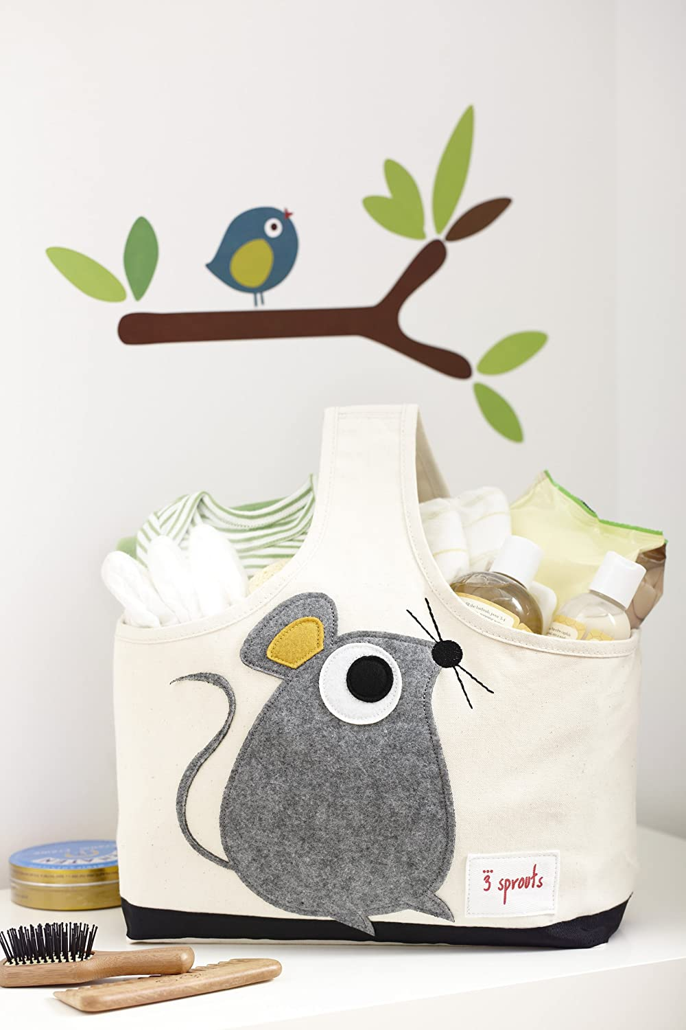 Amazon.com : 3 Sprouts Storage Caddy, Mouse : Diaper Tote Bags : Baby