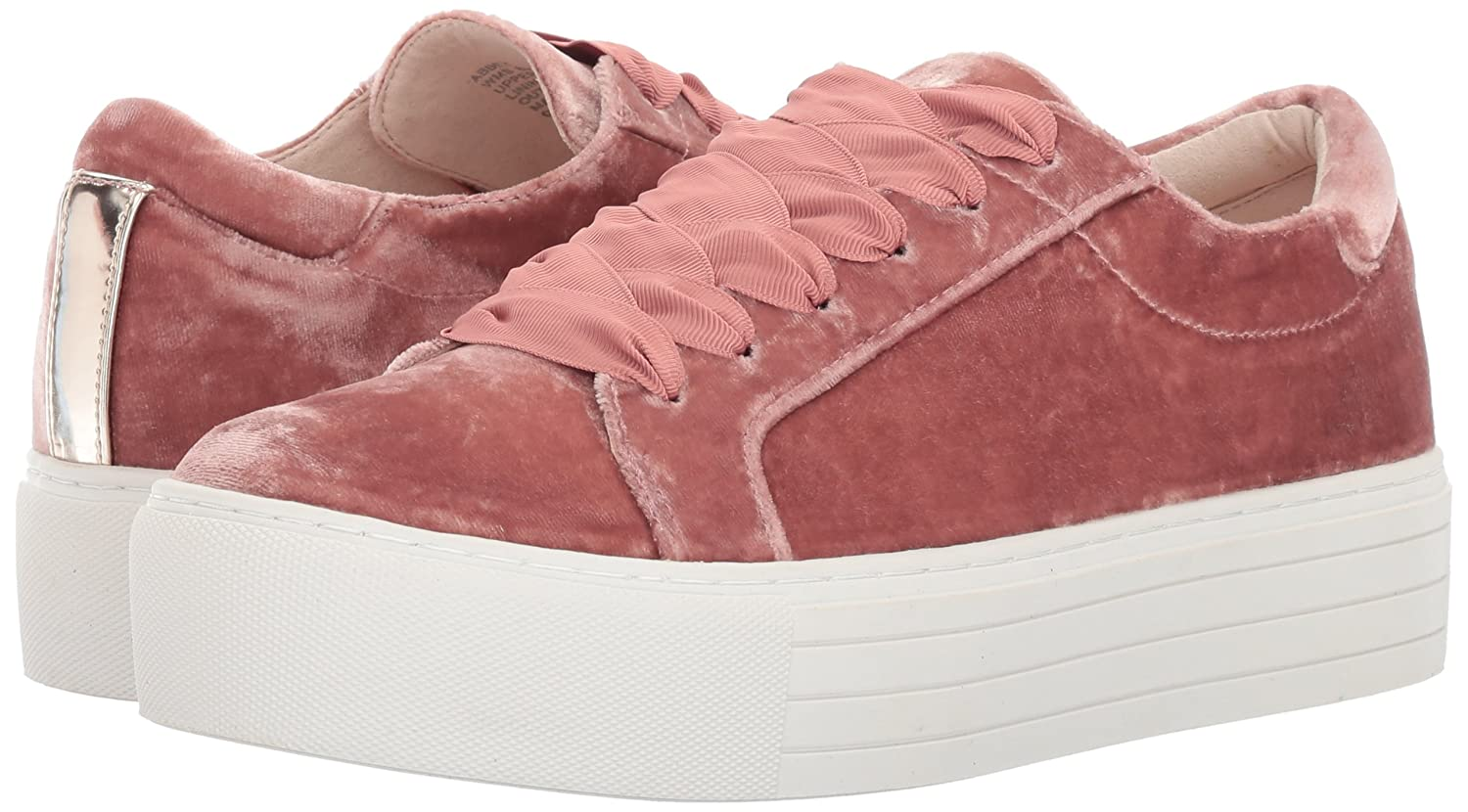 Kenneth Cole New York Women's Abbey Platform Lace B071CF3MQC up Velvet Fashion Sneaker B071CF3MQC Lace 9 B(M) US|Blush 7286f5