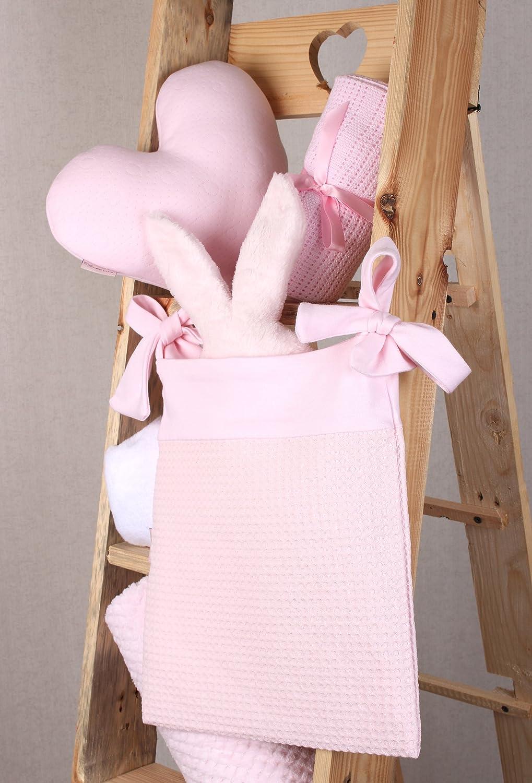 Pink Waffle Cot Pocket//Nursery Tidy