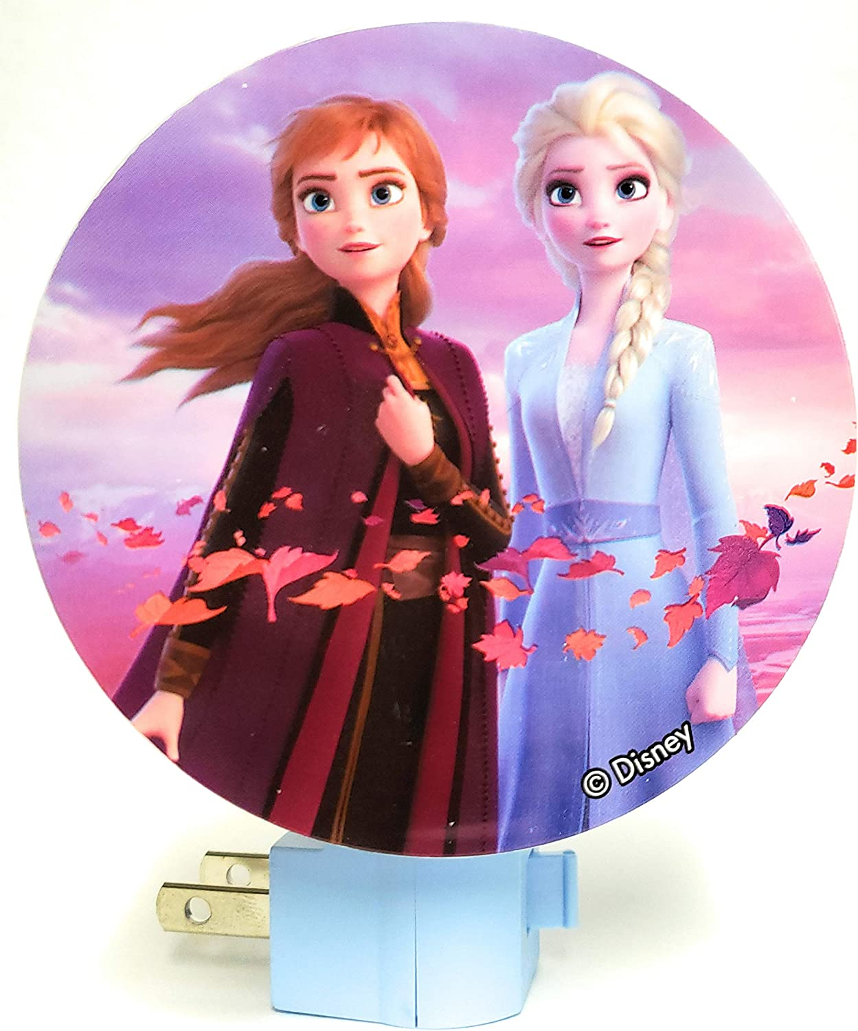 Disney Frozen II Led Night Light - Featuring Elsa and Anna - Enchanted Forrest Edition