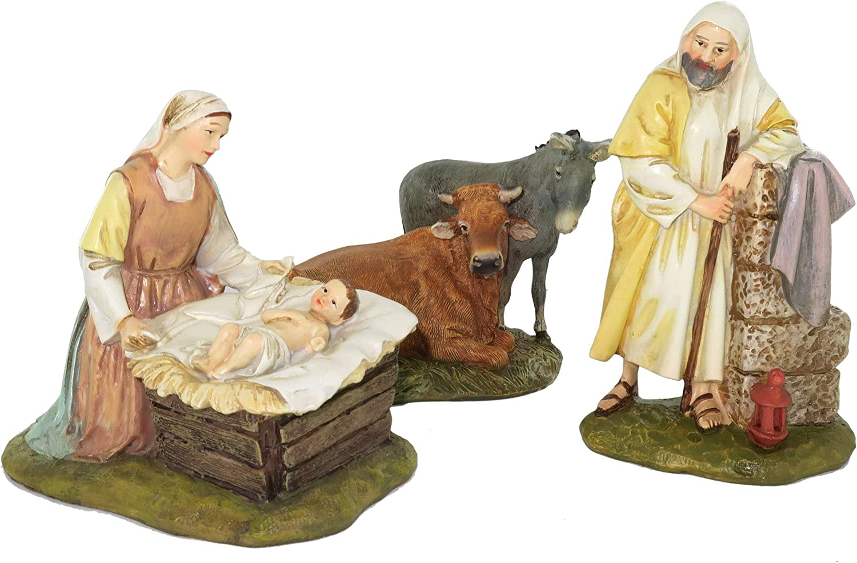 Wooden Nativity Scene 12cm scene. The Holy Family