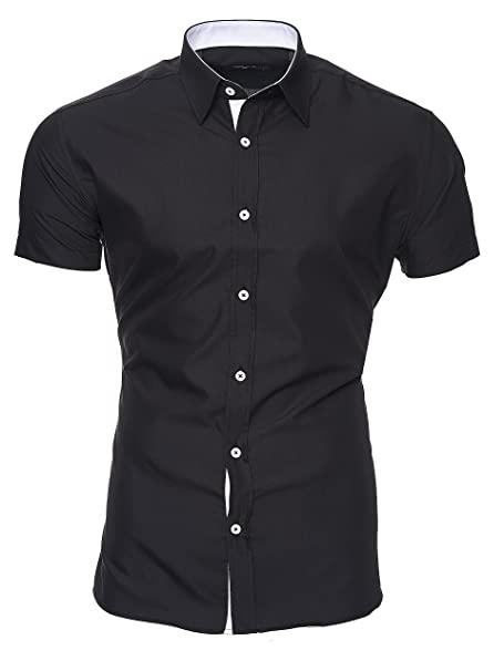 3e0bdbd4 Kayhan Hombre Camisa Manga Corta Slim Fit S M L XL 2XL - Modello Florida +  Maimi: Amazon.es: Ropa y accesorios
