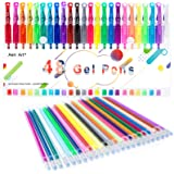Gel Pen, Coloring Gel Pens for Kid Adult Coloring Books, 24 Colors Gel Art Markers Fine Point Pen with 24 Refills for…
