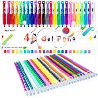 Color Gel Pens for Kid Adult Coloring Books, 24 Colors Gel Art Markers Fine Point Pen with 24 Refills for School Office…