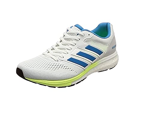on sale b370a f607d adidas Adizero Boston 7 W, Chaussures de Running Femme, Blanc FTWR  WhiteShock