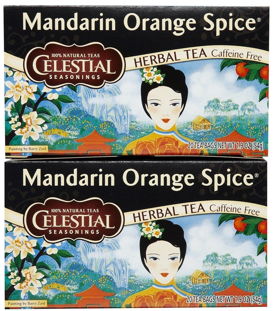 Celestial Seasonings Mandarin Orange Spice Tea Bags, 20 ct, 2 pk