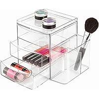 "InterDesign Clarity 12"" Bathroom Vanity Countertop Multi Level Organizer for Cosmetics, Makeup, Vitamins, Medicine Clear"