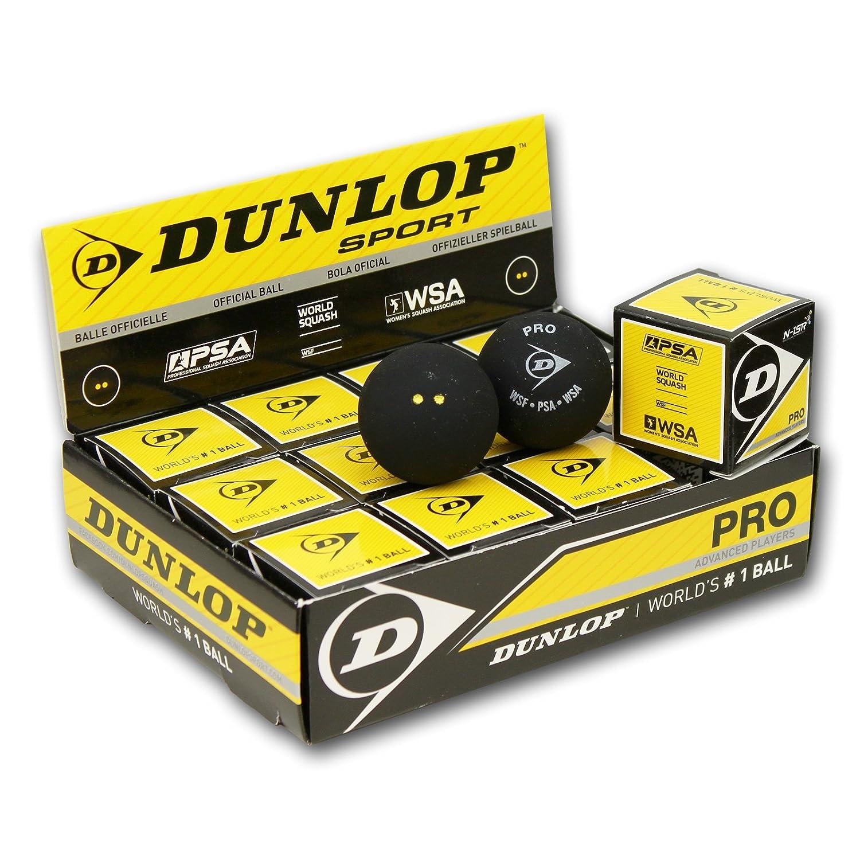 Dunlop Revelation Pro Balles de Squash (Double Point)-1douzaine Jaune Dunlop Sports 1249.38260