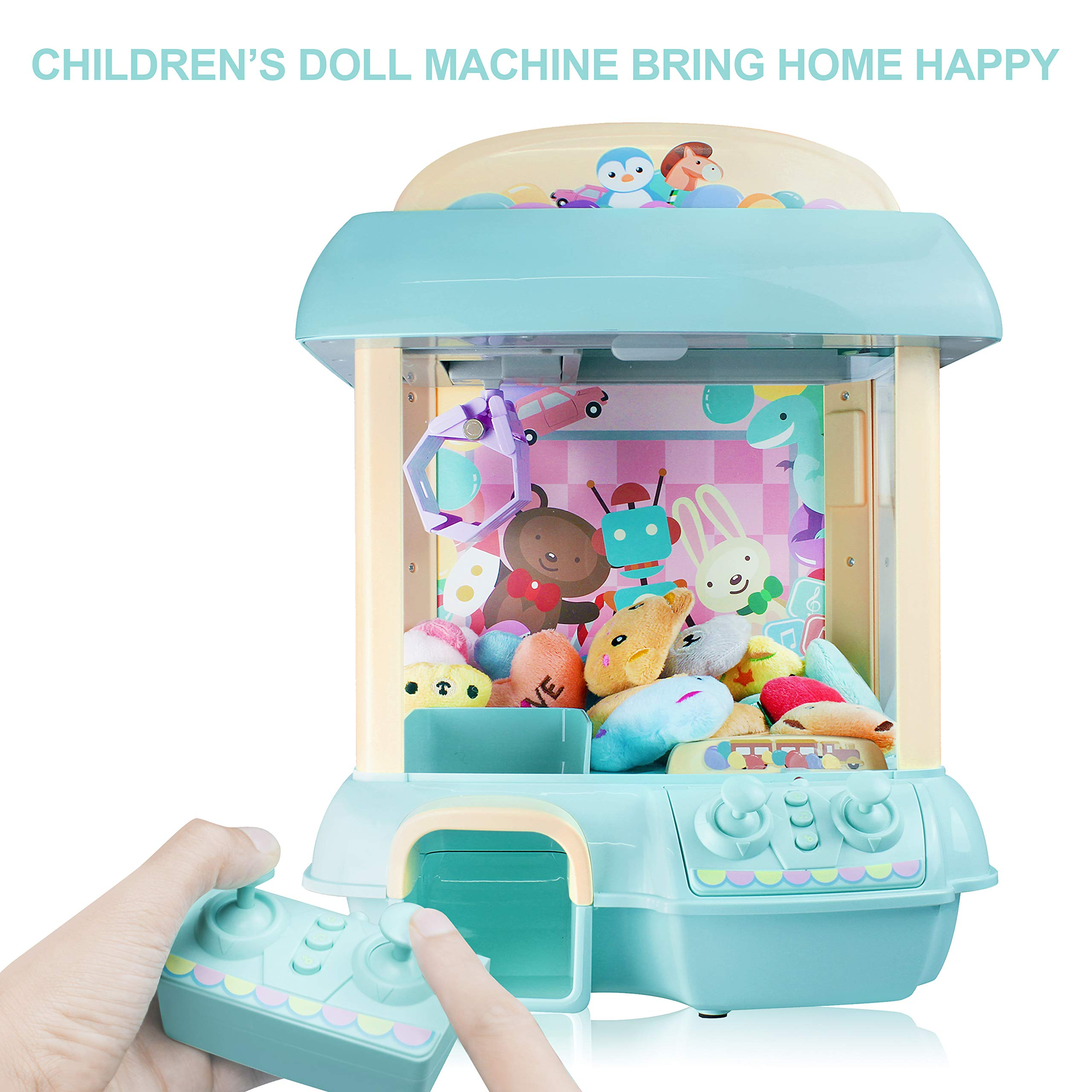 Claw Machine for Kids,Remote Control,Indoor Arcade Gams with Sounds and Lights,Funny Gift for Boys Girls (Blue)