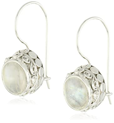 stud moonstone small stone item silver natural earrings cute moon round solid ct