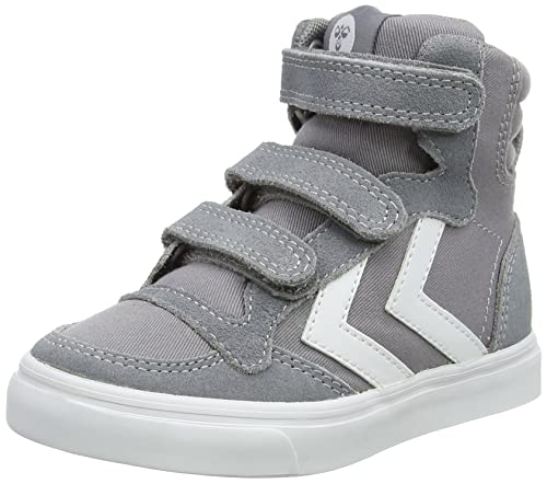 Hummel Stadil Canvas Mono High Jr, Zapatillas Altas Unisex Niños, Gris (Frost Grey), 27 EU