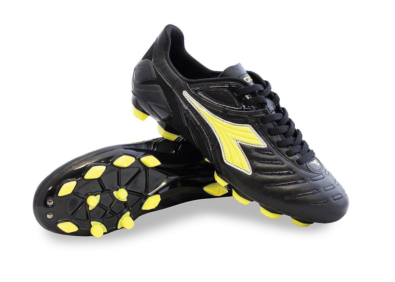 Diadora メンズ B076936FVT 10.5 D(M) US Men's|Black / Fluo Yellow Black / Fluo Yellow 10.5 D(M) US Men's