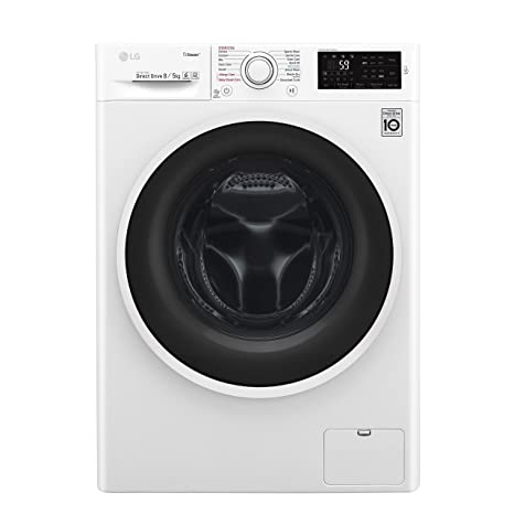 LG 8 kg/5 kg Washer Dryer (F4J6TGP0W, Blue and White)
