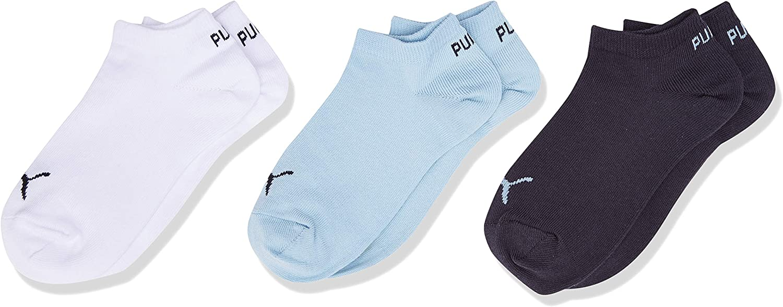 Bambino Bianco PUMA Invisible 3p Sport Pacco da 3 Unica D.Blue//L.Blue//White 823 Taglia Produttore: 23//36