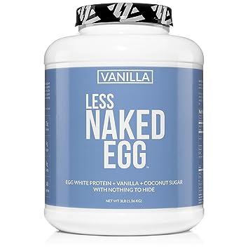 VANILLA LESS NAKED EGG - Non-GMO Egg White Protein Powder from US Farms -