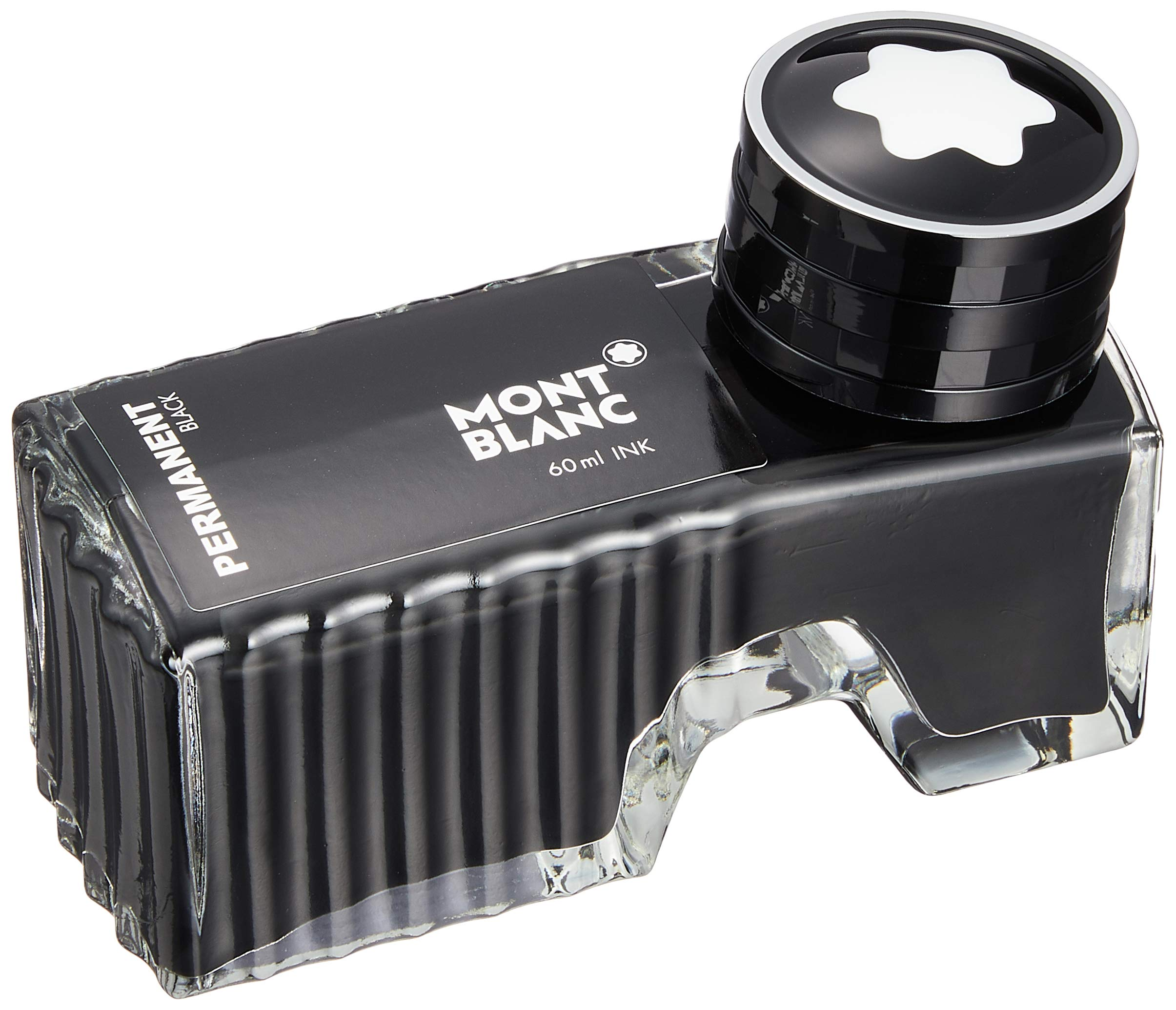 Montblanc Ink Bottle Permanent Black 107755 – Document-Proof Refill Ink in Black for Fountain Pens, Quills, and Calligraphy Pens – 60ml Inkwell by MONTBLANC (Image #1)