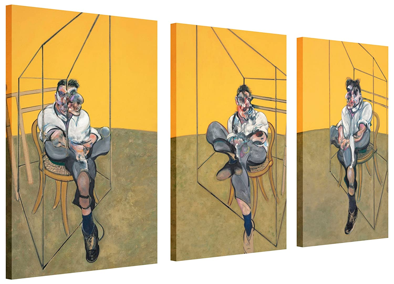 FAMOUS PAINTING FRANCIS BACON THREE STUDIES OF LUCIAN FREUD CANVAS ...