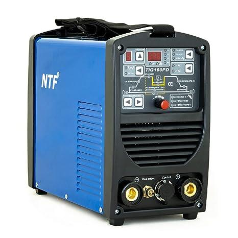 Soldador Inverter TIG IPOTOOLS NTF 160PD TIG Maquina de Soldar de 160 Amperios. Unidad de Soldadura inverter totalmente digital con encendido HF | función ...