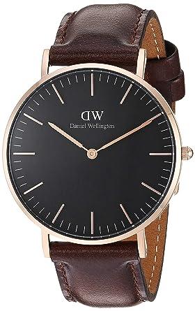 Daniel Wellington Reloj analogico para Unisex de Cuarzo con Correa en Piel DW00100137: Amazon.es: Relojes