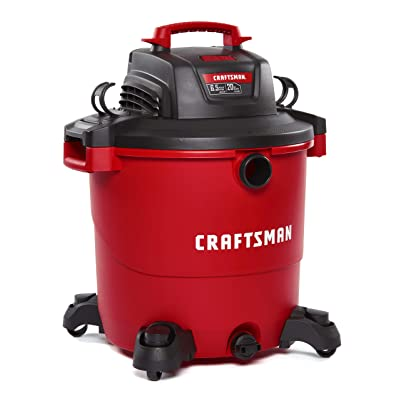 CRAFTSMAN CMXEVBE17596 20 Gallon 6.5 Peak HP Wet/Dry Vac, Heavy-Duty Shop Vacuum with Attachments