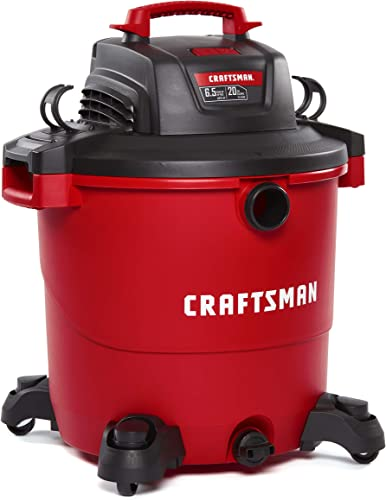 CRAFTSMAN CMXEVBE17596 20 Gallon 6.5 Peak HP Wet Dry Vac, Heavy-Duty Shop Vacuum with Attachments