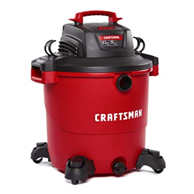 CRAFTSMAN CMXEVBE17596 20 gallon 6.5 Peak Hp Wet/Dry Vac, Heavy-Duty Shop Vacuum with Attachments