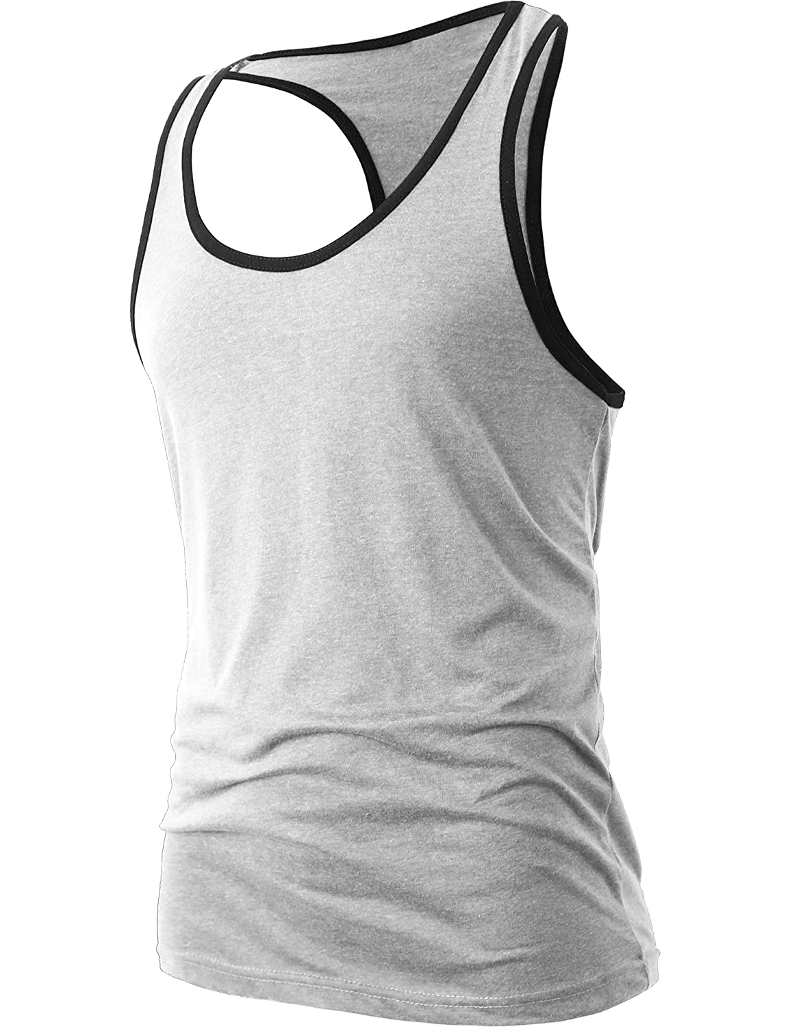 Hat and Beyond Mens Tank Top Racerback Soft Muscle Shirts Workout Gym MAA12